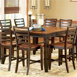 Steve Silver Company Abaco Square/Rectangular Counter Height Dining Table in Acacia