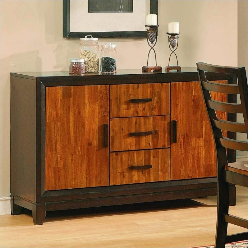 Steve silver company abaco buffet sideboard in cherry and