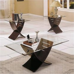 Steve Silver Company Cafe 3 Piece Coffee Table Set in Espresso