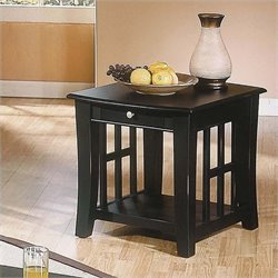 Steve Silver Company Cassidy Black End Table
