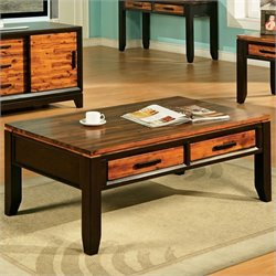 Steve Silver Company Abaco Rectangular Wood Top Coffee Table in Espresso