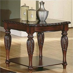 Steve Silver Company Antoinette End Table in Cherry