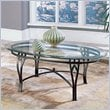 ADD TO YOUR SET: Steve Silver Company Madrid Glass Top Coffee Table