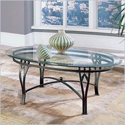 Steve Silver Company Madrid Glass Top Coffee Table