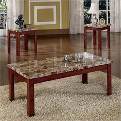 Steve Silver Company Montibello 3 Piece Coffee and End Table Set in Multi-Step Cherry
