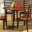 ADD TO YOUR SET: Steve Silver Company Abaco Double Drop Leaf Round Casual Dining Table in Acacia Finish