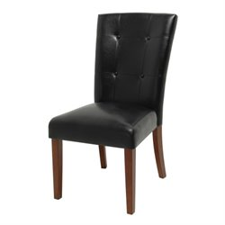 Steve Silver Company Granite Bello Parsons Dining Chair in Black