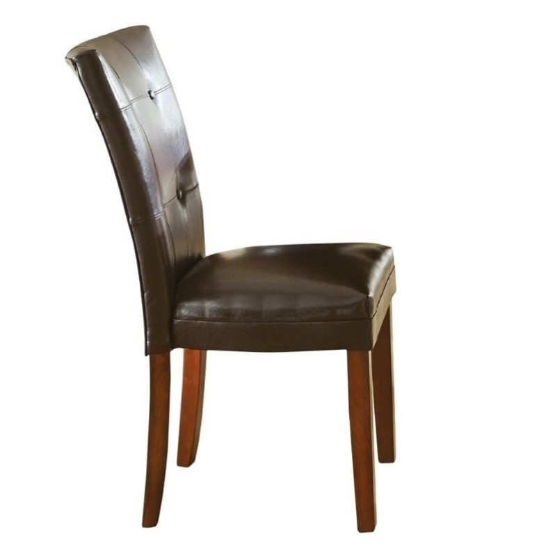 Steve Silver Company Montibello Parsons Dining Chair in Dark Brown