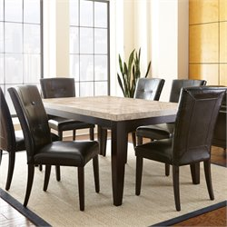 Steve Silver Monarch Dining Table in Dark Cherry