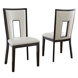 Steve Silver Delano Dining Chair in Espresso Cherry (Set of 2)