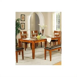 Steve Silver Company Mango Dining Table with 18 Inch Butterfly Leaf in Light Oak