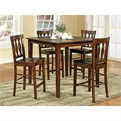 Steve Silver Company Richmond Counter Table 5 Piece Set in Espresso