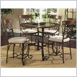 Callistro 5 Piece 45 Inch Counter Table Set