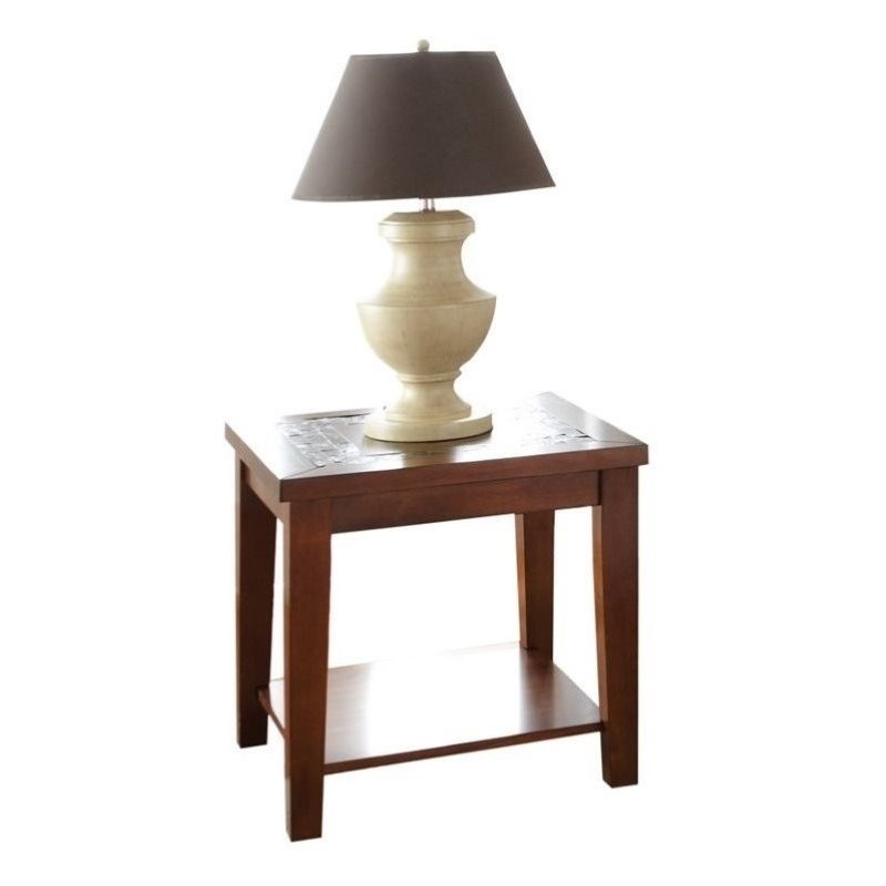 Steve Silver Company Davenport Slate End Table