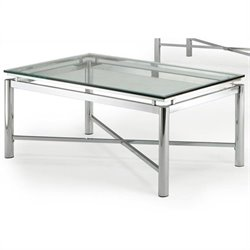 Steve Silver Company Nova Glass Top Cocktail Table