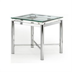 Steve Silver Company Nova Glass Top End Table