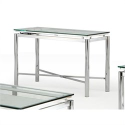 Steve Silver Company Nova Glass Top Sofa Table