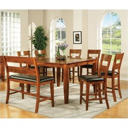 Steve Silver Company Mango 7 Piece Counter Height Dining Set