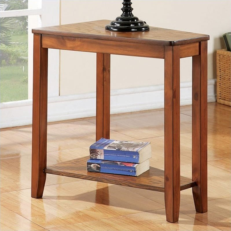 Joel Chairside End Table in Oak Finish