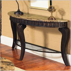 Steve Silver Company Hamlyn Marble Top Sofa Table in Natural Marble
