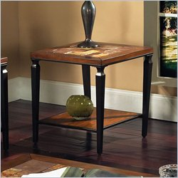 Steve Silver Company Feliz End Table in Cherry Finish