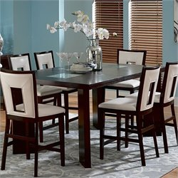 Steve Silver Company Delano Counter Height Dining Table in Espresso