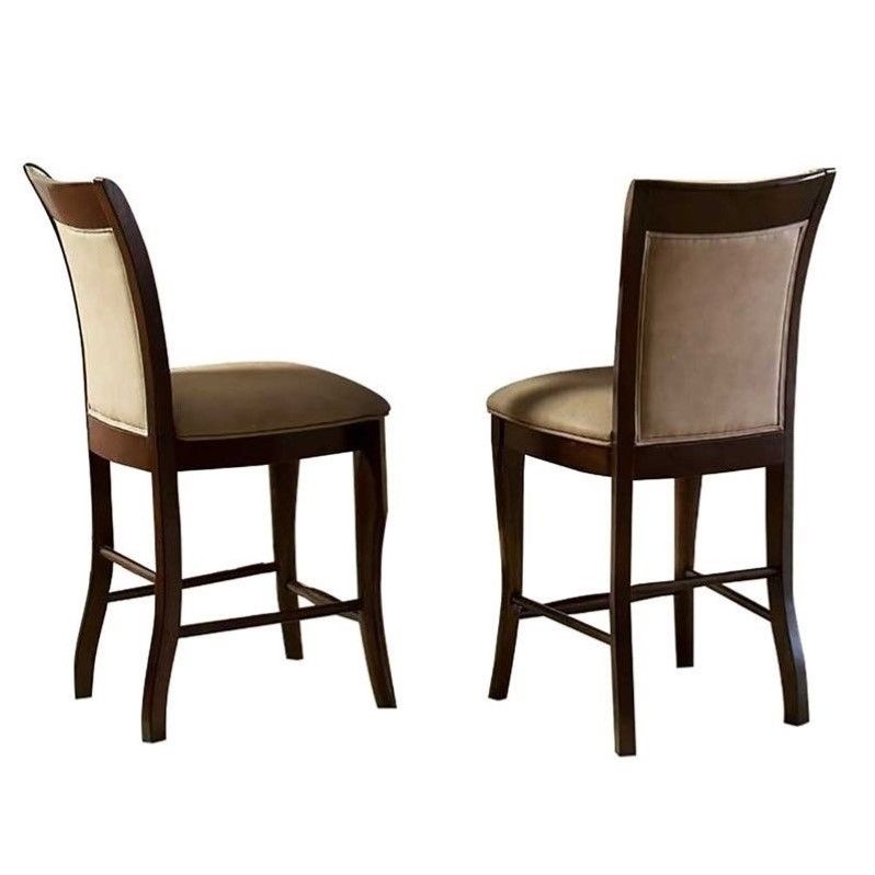 Steve Silver Company Marseille Cream Counter Height Dining Chair in Cherry