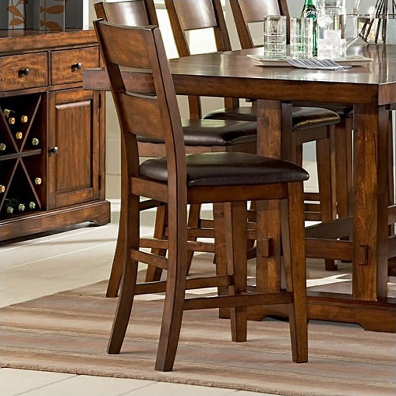 Zappa Brown Vinyl Counter Height Dining Chair