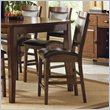 ADD TO YOUR SET: Steve Silver Company Vancouver Dark Brown Vinyl Counter Height Dining Chair