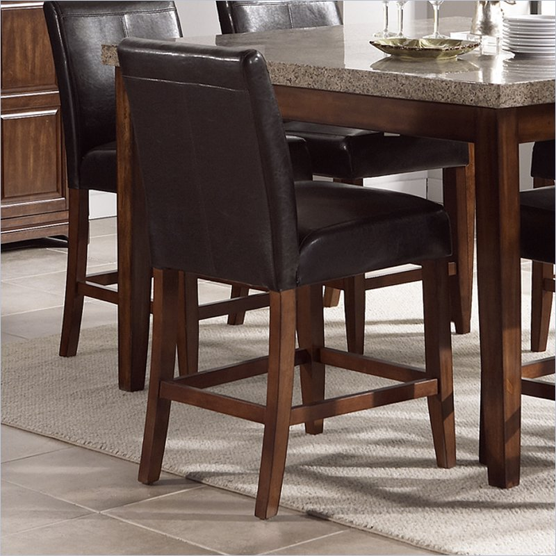 Clayton Vinyl Counter Height Dining Chair in Cherry