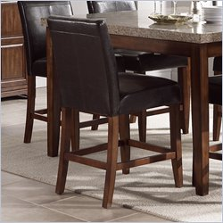 Steve Silver Company Clayton Vinyl Counter Height Dining Chair in Cherry