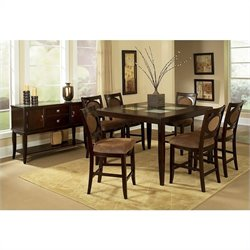 Steve Silver Company Montblanc 8 Piece Counter Height Dining Set