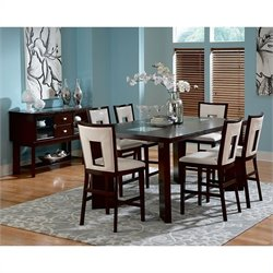 Steve Silver Company Delano 8 Piece Counter Height Dining Set