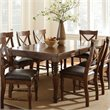 ADD TO YOUR SET: Steve Silver Company Wyndham Rectangular Dining Table with Leaf in Distressed Tobacco