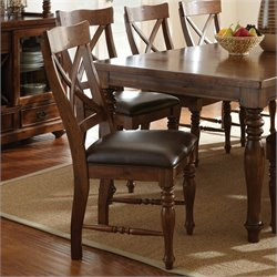 Steve Silver Company Wyndham Dining Chair in Distressed Tobacco