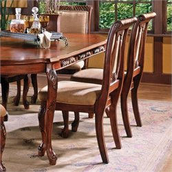 Steve Silver Company Harmony Harpback Dining Chair in Rich Cherry