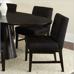 Steve Silver Company Maurice Parsons Upholstered Poly Cotton Fabric Dining Chair in Black