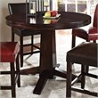 ADD TO YOUR SET: Steve Silver Company Hartford 48 Inch Round Counter Height Dining Table in Dark Cherry