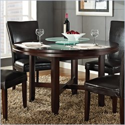 Steve Silver Company Hartford 52 Inch Round Casual Dining Table in Dark Cherry