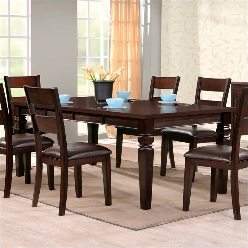 Gibson 2 in 1 Regular and Counter Height Dining Table in Espresso