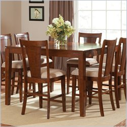 Steve Silver Company Easton Counter Height Dining Table with 1 Leaf in Cherry