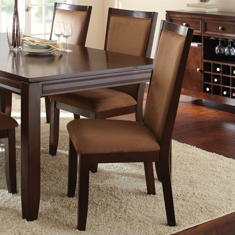 Steve Silver Company Cornell Upholstered Dining Chair in Espresso