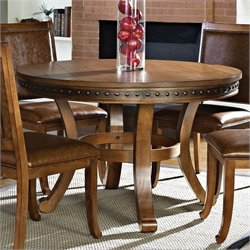 Steve Silver Company Ashbrook Round Dining Table in Oak