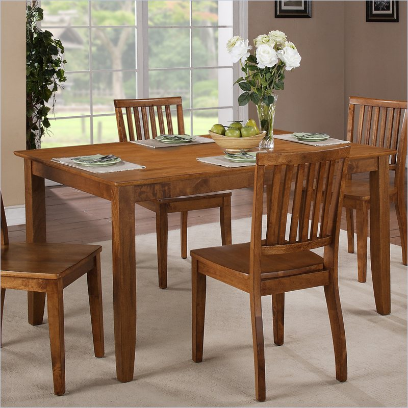 Candice Rectangular Dining Table in Oak
