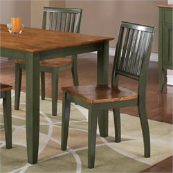 Steve Silver Company Candice Dining Chair in Oak and Green