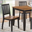 Candice 5 Piece Rectangular Dining Table Set in Oak and Black