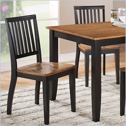 Steve Silver Company Candice Dining Side Chair in Oak and Black