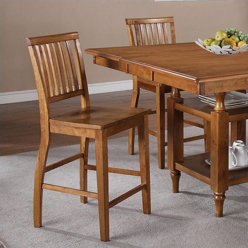 Candice Counter Height Dining Side Chair in Oak