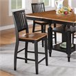 Steve Silver Company Candice Counter Height Dining Chair in Oak and  Black