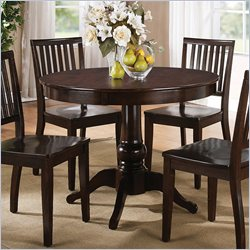 Steve Silver Company Candice Round Dining Table in Dark Espresso